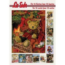 Bücher, Zeitschriften und CD / Magazines Le Suh, 3D Buch A5, Beren Decoupage Bogen.