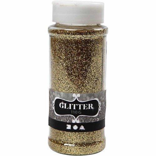 BASTELZUBEHÖR, WERKZEUG UND AUFBEWAHRUNG Glitter, guld, 110 g