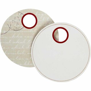 Embellishments / Verzierungen 10 Geschenkanhänger van stevig karton