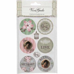 Embellishments / Verzierungen Zelfklevende sticker Scène met een matte afwerking - Vivi Gade Design