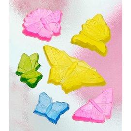 GIESSFORM / MOLDS ACCESOIRES Seifengießform avec 6 papillons, 5-12cm