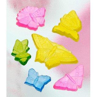 Modellieren Seifengießform met 6 vlinders, 5-12cm