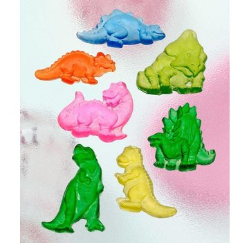 GIESSFORM / MOLDS ACCESOIRES Seifengießform, Dinos, 7-delig 4,5 cm
