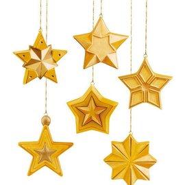 GIESSFORM / MOLDS ACCESOIRES Mold: plein forme d'étoiles, 8x8x2, 5cm, 6 pièces.