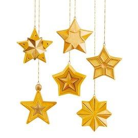 Modellieren Molde de fundición: estrellas de forma completa, 8x8x2.5cm, 6 piezas.