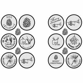 Embellishments / Verzierungen Zelfklevende sticker Scene