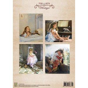 Nellie Snellen A4 blad, vintage zusje