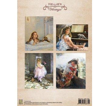Nellie Snellen A4-ark, vintage lillesøster