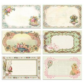 Embellishments / Verzierungen 30 pretty picture Notecards - Delight, 30 pieces, 12,7 x7, 62cm