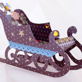 Dekoration Schachtel Gestalten / Boxe ... Wrap modèle, Slider, 22x13x6cm
