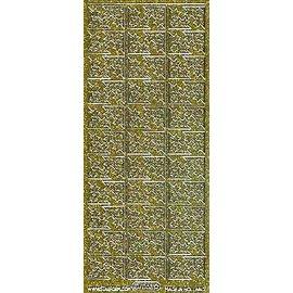 STICKER / AUTOCOLLANT Glitter decoratieve sticker, 10 x 23cm, sterren.
