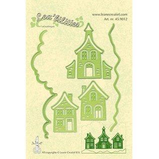 Leane Creatief - Lea'bilities und By Lene Cutting en Embossing Sjabloon: mooie huizen - NOG 1 nog steeds beschikbaar!