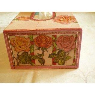 Objekten zum Dekorieren / objects for decorating Kosmetiktuch-Box, Größe 27x14x8 cm, Kaiserbaum, 1 Stck.
