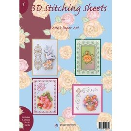 Bücher, Zeitschriften und CD / Magazines Libro con hojas de costura en 3D y No.1