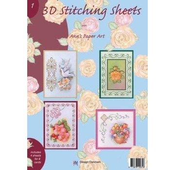 Bücher, Zeitschriften und CD / Magazines Boek met 3D Stitching Sheets en No.1