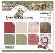 Karten und Scrapbooking Papier, Papier blöcke paper pack, 15 x 15cm (160gsm) - h & h festive frolics (40pk) - Copy