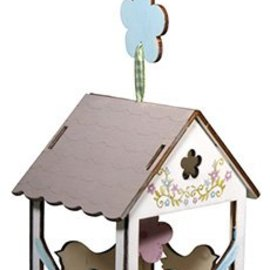 Objekten zum Dekorieren / objects for decorating 2 voliera in legno, 6x4,5cm