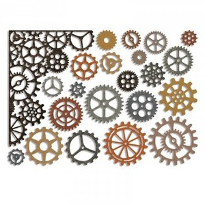 Sizzix Stempling og prægning stencil Sizzix Thinlits, gear og kanter