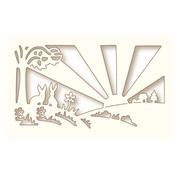 Wild Rose Studio`s Stanz- und Prägeschablone: Sonnenaufgang Landschaft