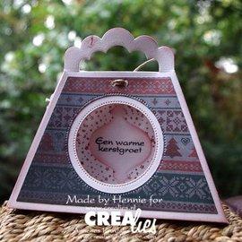 Crealies und CraftEmotions Poinçonnage et gaufrage modèle: Une poche 3D