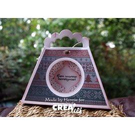 Crealies und CraftEmotions Troquelado y estampado en relieve plantilla: Un bolsillo 3D