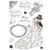 Wild Rose Studio`s Transparent stamps, A5: Romance