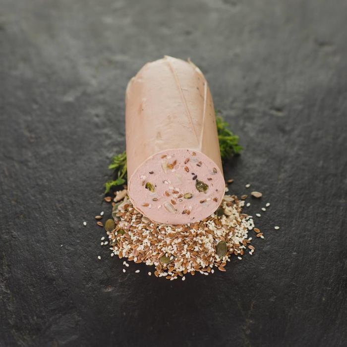 Kalbsfleischleberwurst mit gemischten Körnern