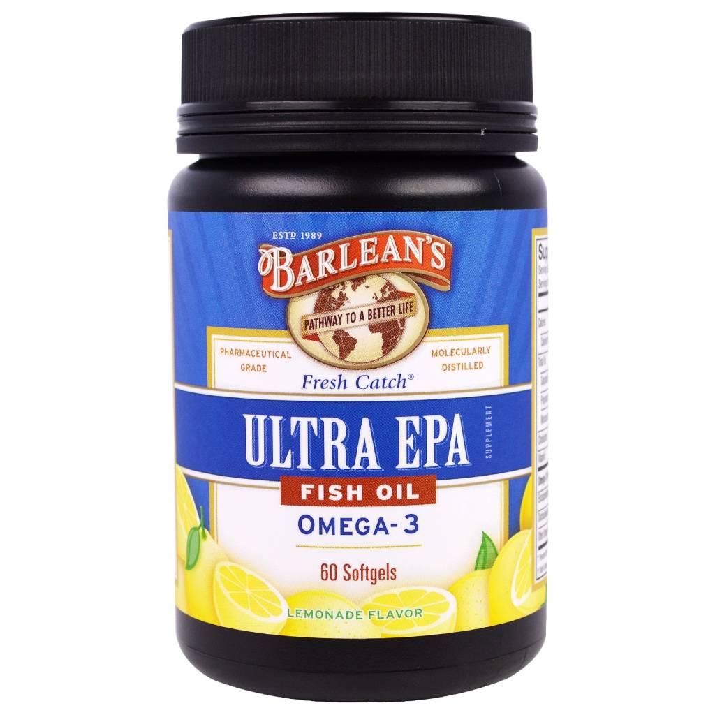 Barlean's Ultra Dha, Fish Oil, Omega-3, Lemonade Flavor