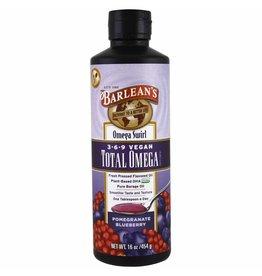 Barlean's Total Omega 3-6-9 Vegan, Pomegranate Blueberry