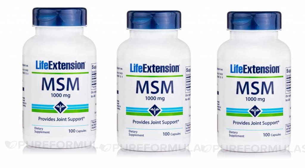 Life Extension MSM (methylsulfonylmethane) 3-pack