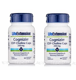 Life Extension CDP-Choline Caps, 250 Mg, 2-pack