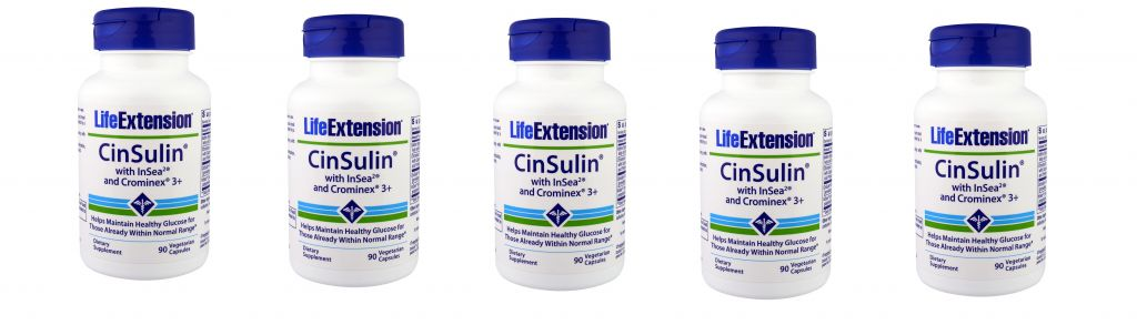 Life Extension Cinsulin With Insea2 And Crominex 3+, 5-pack