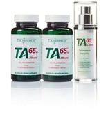T.A. Sciences TA-65 Starter Kit (2 x TA-65MD 250IE 90 capsules + 1 x TA-65 for Skin 30ml)