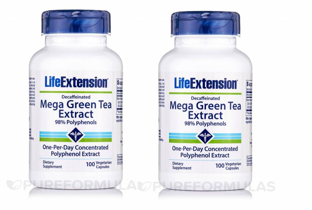 Life Extension Mega Green Tea Extract (decaffeinated), 2-pack