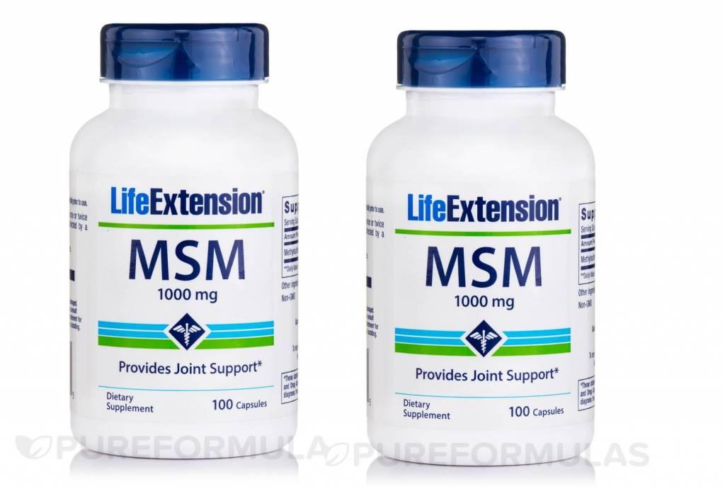 Life Extension Msm (methylsulfonylmethane), 2-pack