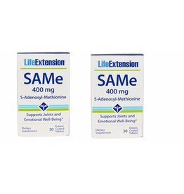 Life Extension Same (s-adenosyl-methionine), 400 Mg, 30 Enteric Coated Tablets, 2-pack
