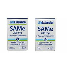 Life Extension Same (s-adenosylmethionine), 200 Mg 30 Enteric Coated Tablets, 2-pack