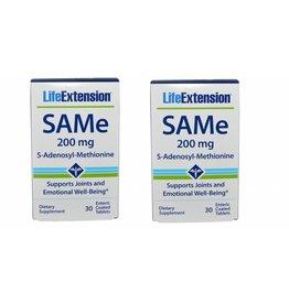 Life Extension Same (s-adenosylmethionine), 200 Mg 30 Enteric Coated Tablets, 2-pack