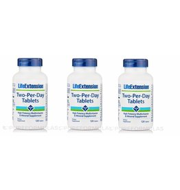 Life Extension Two-Per-Day Tablets, 120 Tablets, 3-pack