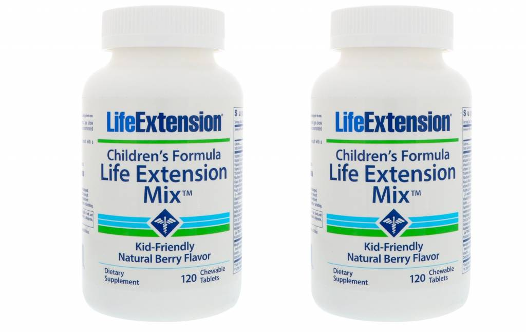 Life Extension Children's Formula Life Extension Mix, 120 Chewable Tablets, 2-pack