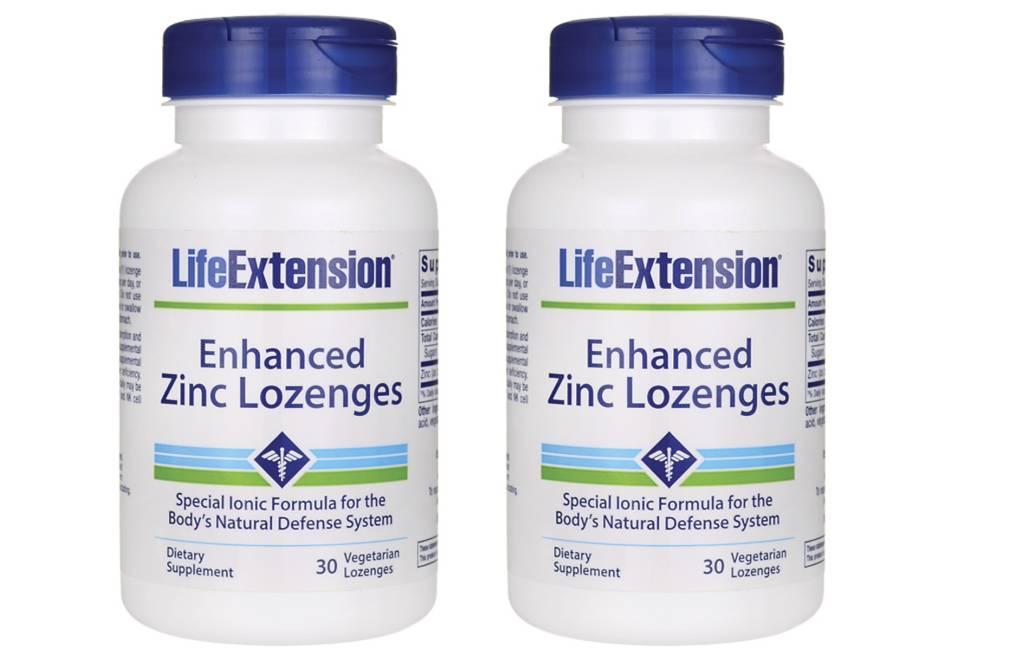 Life Extension Enhanced Zinc Lozenges, 30 Vegetarian Lozenges, 2-pack
