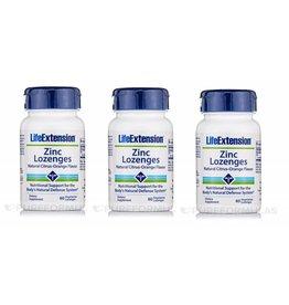 Life Extension Zinc Lozenges, 60 Vegetarian Lozenges, 3-pack