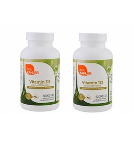 ZAHLER Vitamin D3, 50,000 IU, 120 Vegetable Capsules, 2-pack