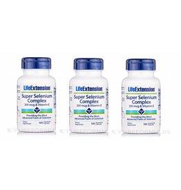 Life Extension Super Selenium Complex, 200 Mcg & Vitamin E 100 Vegetarian Capsules, 3-pack