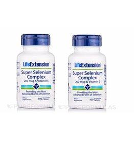 Life Extension Super Selenium Complex, 200 Mcg & Vitamin E 100 Vegetarian Capsules, 2-pack