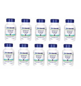 Life Extension Adrenal Energy Formula, 60 Vegetarian Capsules, 10-pack