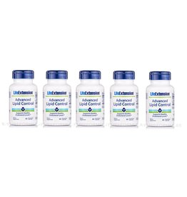Life Extension Advanced Lipid Control, 60 Vegetarian Capsules, 5-pack
