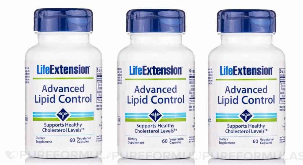 Life Extension Advanced Lipid Control, 60 Vegetarian Capsules, 3-pack