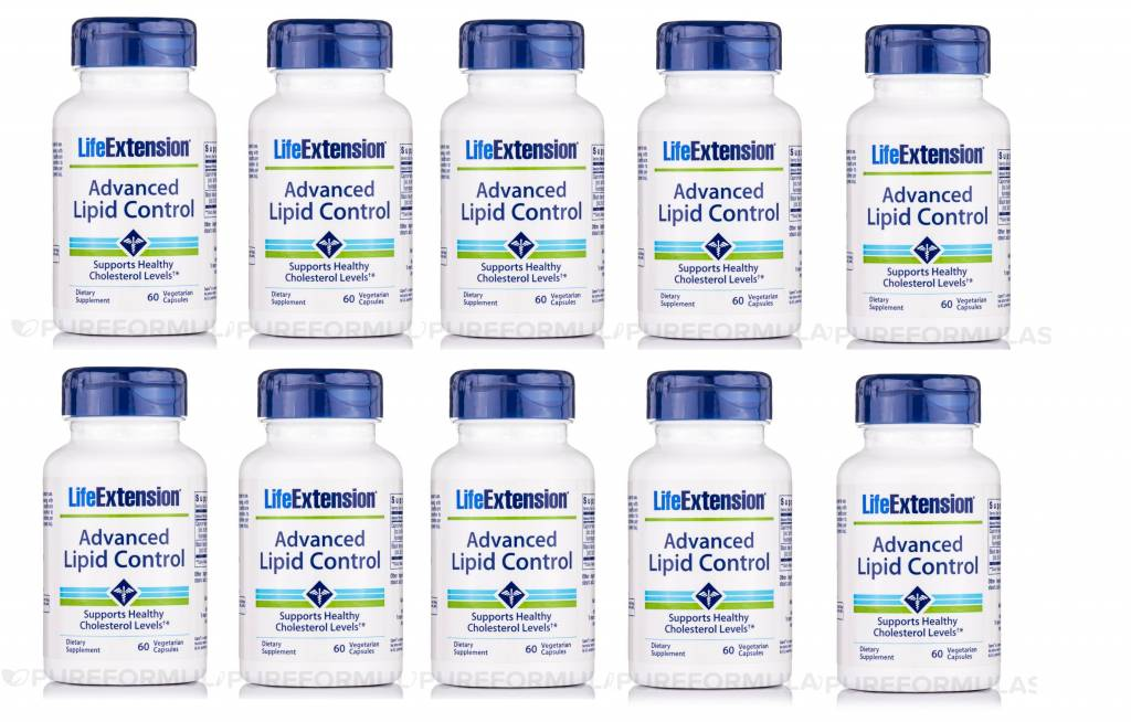 Life Extension Advanced Lipid Control, 60 Vegetarian Capsules, 10-pack