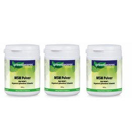 Greenleaves vitamins MSM Pulver (Opti-MSM), 3-pack